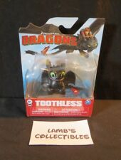 Dreamworks Dragons Begging Toothless mini figure Night fury Smiling