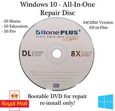 Windows 10 32/64 Bit Recovery Repair Restore Boot Fix DVD Latest Version 1903