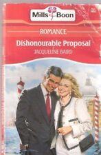 Dishonourable Proposal, Jacqueline Baird | Paperback Book | Acceptable | 9780263