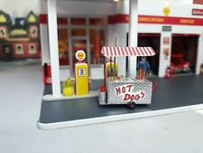 1/64 Scale S Hot Dog Vending Cart Diorama Use American Flyer Compatble size Erlt