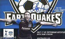 2010 ARTURO ALVAREZ #10 San Jose EARTHQUAKES Autographed Signed Card MLS