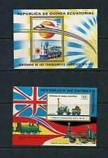 TRAINS - Equatorial Guinea  - 1972 sheets -  (MB 31-2)  - MNH- C257