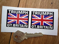 TRIUMPH Great Britain Union Jack Style Stickers 50mm Pair Bonneville Spitfire TR