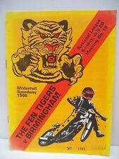 Speedway Programme, Fen Tigers v Birmingham, 20.07.1986