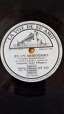 JAZZ 78 rpm RECORD VsA ORQUESTA DUKE ELLINGTON En un merendero / Mi mayor error
