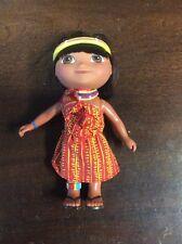 "Mattel 2005 Dora The Explorer 6"" Hard Plastic Doll Toy Plastic Figurine Spanish"