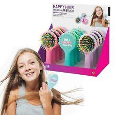 WILD HAIRBRUSH - Happy Hair Kids Fun Colourul Brush - 15cm **NEW**