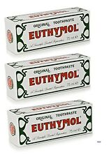 Euthymol Original Toothpaste Brand of Antiseptic - 3 X 75ml