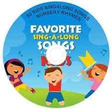 50 KIDS SINGALONG SONGS NURSERY RHYMES CHILDREN'S FAVORITES KIDS AUDIO CD #1