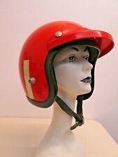 Vintage 1960's Bell R-T Helmet Orange Motorcycle Racing S? star toptex magnum HD