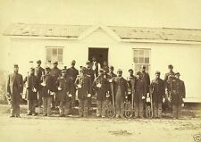 Union Army 107th Colored Infantry Band Instruments 1865 8x10 US Civil War Photo