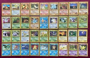 Pokemon COMPLETE Common Set MINT Gym Challenge 1ST EDITION 2000 RARE Vintage