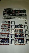 Detroit Tigers World Series Tickets Full Sheet 2013 ALDS-Beat OAK ALCS-Lost BOS
