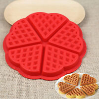 Silicone.Waffles Pan Cake Baking Baked Muffin Cake Chocolate Mold Mould Tray-Red