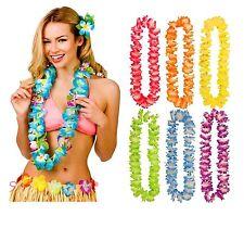 6 X Hawaiian Lei Hula Flower Garland Necklace Hen Aloha Hawaii Fancy Dress Party