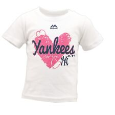New York Yankees Official MLB Majestic Baby Infant Girls Size T-Shirt New Tags