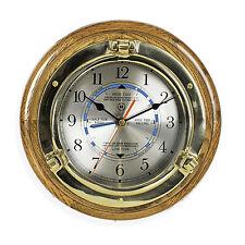 WALL CLOCKS - BRASS PORTHOLE TIDE AND TIME WALL CLOCK - NAUTICAL DECOR