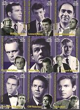 """THE OUTER LIMITS PREMIERE ED RA 2002 COMPLETE 9 CARD """"STARS OF"""" CHASE SET #S1-S9"""