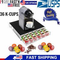36 K Cup Sliding Under Brewer Storage Drawer K-Cups Holder Coffee Organizer US