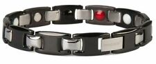 Magnetic Bracelet Noble Surgery Steel Stainless 4 in 1 Bio energie Black Silver