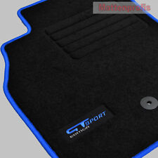 MP Suede Logo Floor Mats for RENAULT MEGANE 3 III Coupe from year 11/2008 Blue