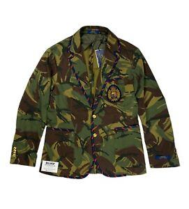 Ralph Lauren Polo Unconstructed Cricket Crest Blazer Camo Camouflage - Medium M