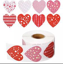 500pcs/roll Love Heart Shaped Label Sticker Packaging Seal Stationery Sticker