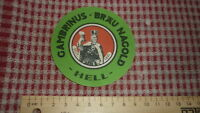 1950s GERMAN BEER LABEL, GAMBRINUS BRAUEREI NAGOLD GERMANY, HELL