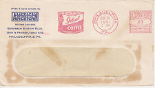 POSTAL HISTORY ADVERTISING METERED COM COVER 1951 AMERICAN STORES CO PHIL, PA #2