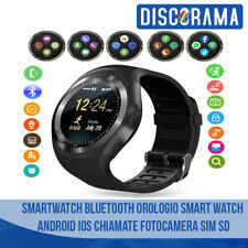 SMARTWATCH BLUETOOTH OROLOGIO SMART WATCH ANDROID IOS CHIAMATE FOTOCAMERA SIM SD
