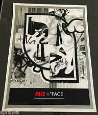 "SHEPARD FAIREY + DFACE COLLAB ""FACE TO FACE"" SIGNED & NUMBERED *SOLD OUT* OBEY"