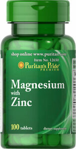 Puritan's Pride Magnesium with Zinc 100 Tablets Mother's Day Promo