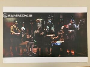 RAMMSTEIN, THEATER,RARE 2004 REPRODUCTION POSTER
