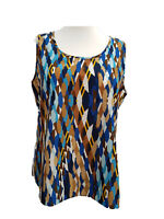 Womens Tunic Tank Top Printed Camisole Vests Ladies New Plus Size 18/20 to 34/36
