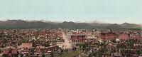 10x30-inch panoramic color photo print Denver Colorado CO 1898 repro photochrom