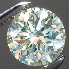 1.08 ct 6.86 Mm VVS1 OFF WHITE ICE BLUE COLOR ROUND LOOSE REAL MOISSANITE 4 RING