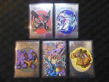 YuGiOh! 5x Laminated Card Blue-Eyes Red-Eyes Yugi Complete Set Very Rare Japan