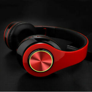 Wireless Bluetooth Headphones Super Bass Foldable Stereo Earphones Headsets Mic