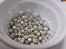 150pcs 8mm Acrylic Faceted Round Beads - Metallic Silver ( Australian Seller )