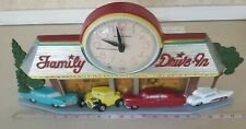 Vintage Burwood Products Coca-Cola Family Drive-In Wall New Haven Quartz Clock