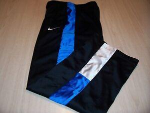NIKE BLACK W/BLUE ATHLETIC PANTS BOYS LARGE 14-16 EXCELLENT CONDITION