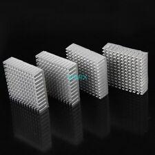 5pcs 35mm x 35mm x 10mm Adhesive Silver Aluminum Heatsink For IC Memory CPU Chip