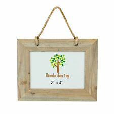 """Wooden Shabby Chic Rustic Driftwood Hanging Photo Picture Frame-7x5"""""""