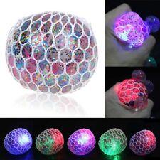LED Anti Stress Glibber Powerball Netzball Druck Spielzeug Ball Gel Quetschball