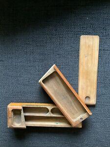 Feder- und Griffelkasten aus Holz mit Patina