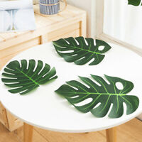 """30 PCS 14"""" Large Tropical Palm Leaves Fake Monstera Leaves Tropical Party"""