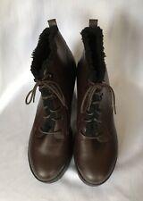 new look womens Bordeaux Platform Ankle Boot shoes size 8 UK Eur 42