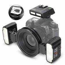 Meike MK-MT24S Macro Twin Lite Flash Light TTL for Sony A9 A7R3/2 A7M3 Black