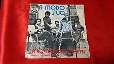 45 giri  -  LA BOTTEGA DELLA VERITA' - amodo suo - CON I VERONA FOLK - 1977