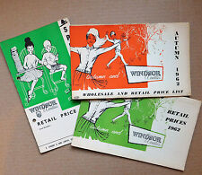 3 Vintage 1962 catalogues Windsor Woollies 1960s childrens fashion clothing f
